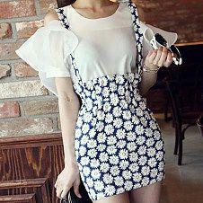 Very temperament Chiffon texture dress