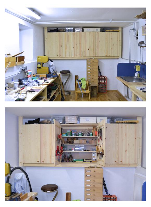 Ikea Hack Ivar Cupboards Into Tools Storage Ikea Ivar Home