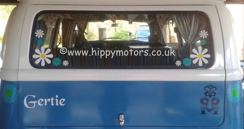 T VW Camper Van Daisy Decals Maori Sticker Decal Custom Name - Custom vinyl car decals uk
