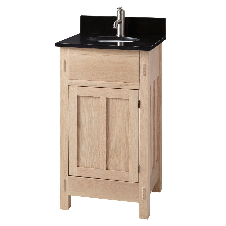 19 Unfinished Mission Hardwood Vanity For Undermount Sink