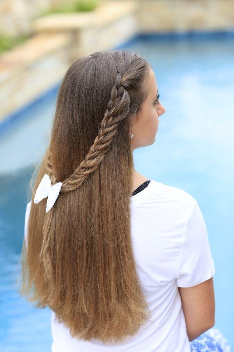 Halfloop braidback hairstyles ideas pinterest girl hairstyles
