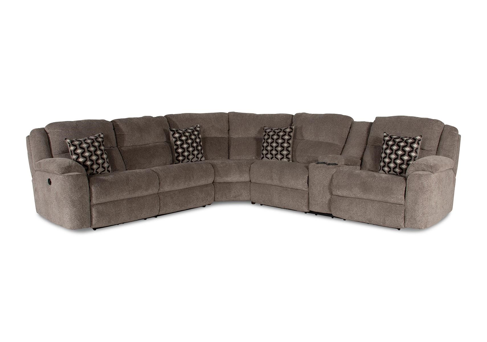 Lacks Catalina 3 Pc Reclining Sectional With Power Reclining