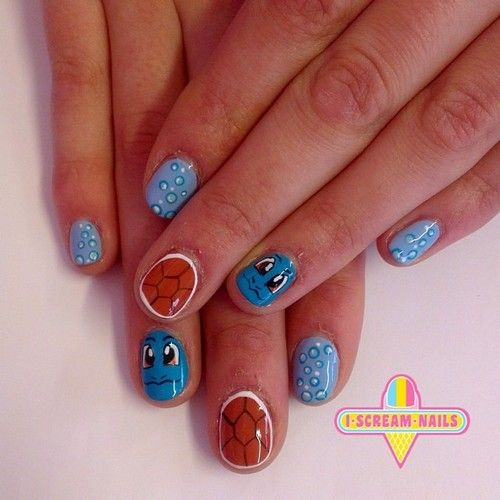 We Love This Squirtle Nail Art Were You Into Pokemon As A Kid