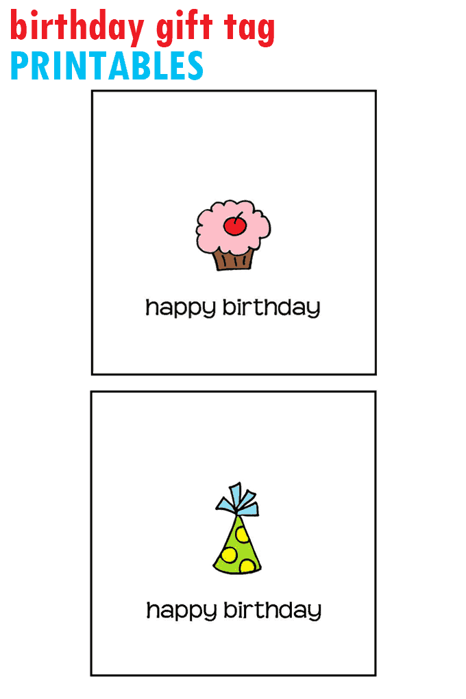 Birthday Gift Tag Printable Free Tags You Can Print At Home DIY Cards