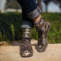 Старинные ручной работы из натуральной кожи женская обувь персонализированные…