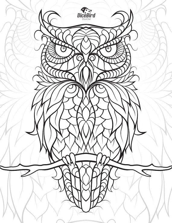 Owl Zen Coloring