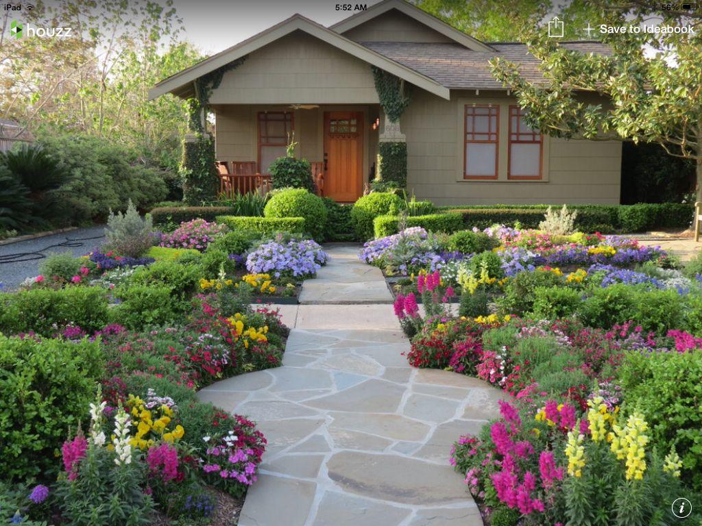 Perennial garden front yard