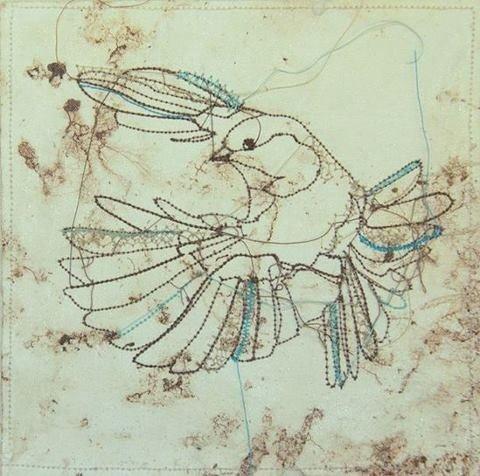 Birds Kunstwerkjes Van Marloes Duyker Stitching Art Embroidered Art Thread Art