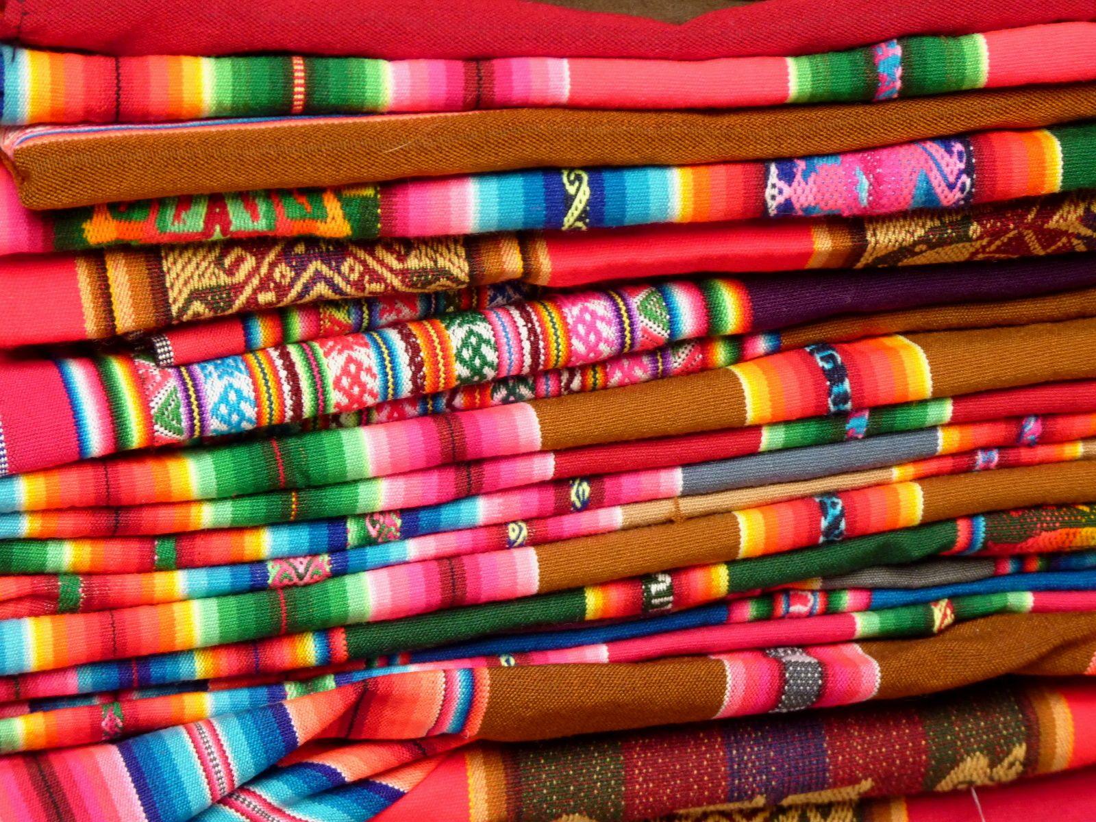Colourful textile, Bolivia.