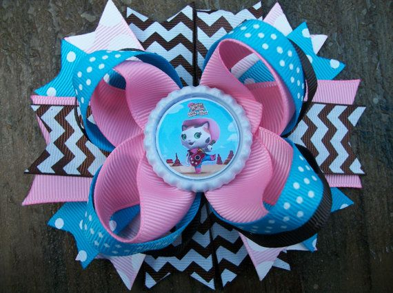 Sheriff Callie's Wild West 5 Inch Stacked Boutique Bow / Birthday Bow on Etsy, $6.99