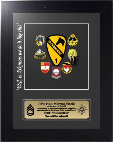Army Unit Crest Award/Gift Unique Framed Military Gifts