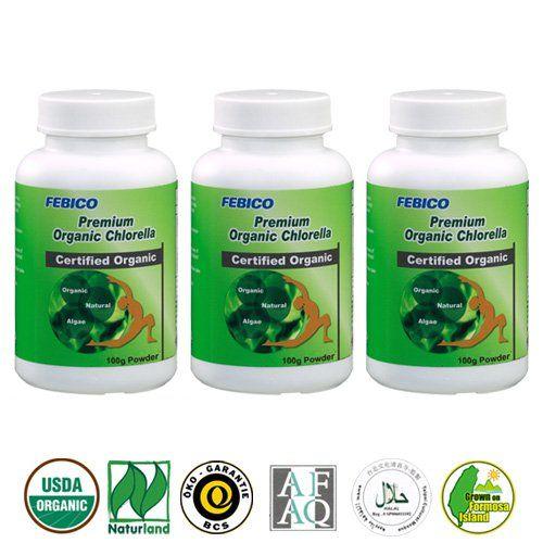 Febico Organic Chlorella Powder 100g Broken Cell Wall Set Of 3 Amazon Best Buy Organicproteinsupplement Digestion Chlorella Premium Organic