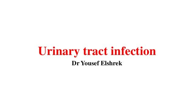Urinary tract infection Dr Yousef Elshrek