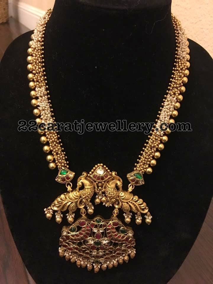 cz design stones sets handwork american diamond traditional gold chain south om pendant img plated indian jewellery