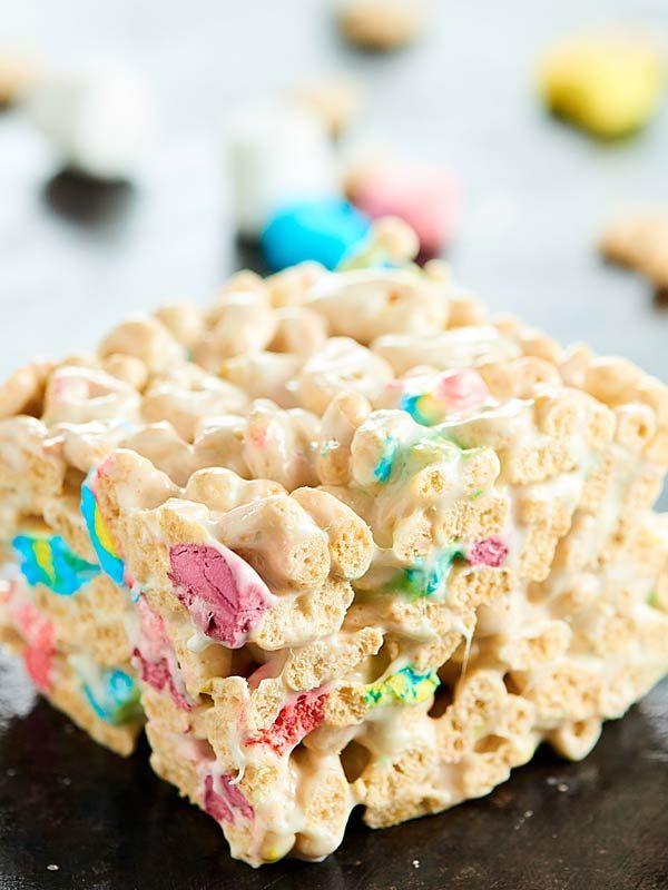 Lucky Charms Marshmallow Treats Recipe - 4 Ingredients! #marshmallowtreats
