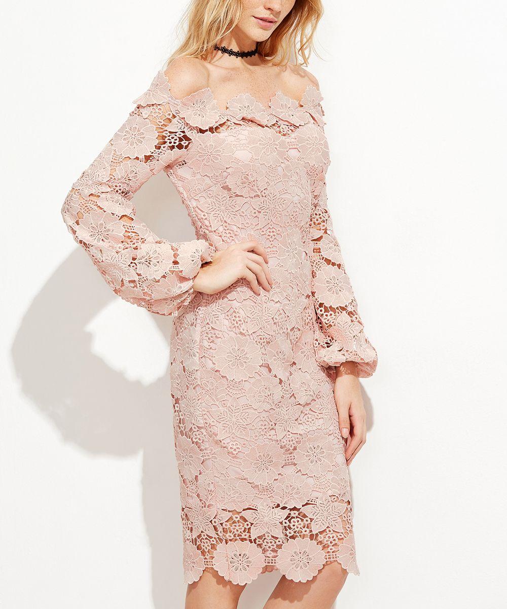 Powder Pink Lace Sheath Dress | Pinterest