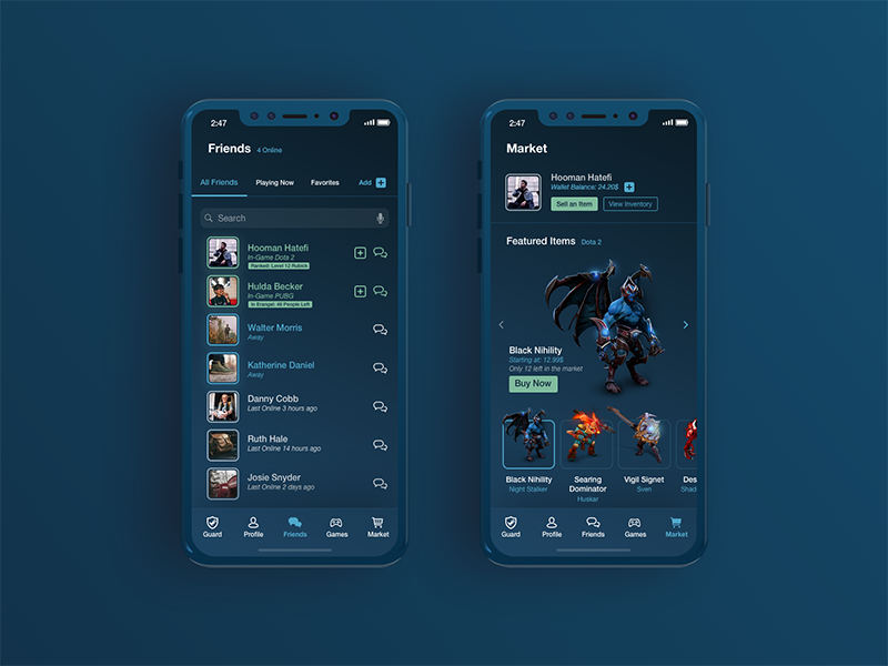 Steam App Redesign Steam app, App interface design, App