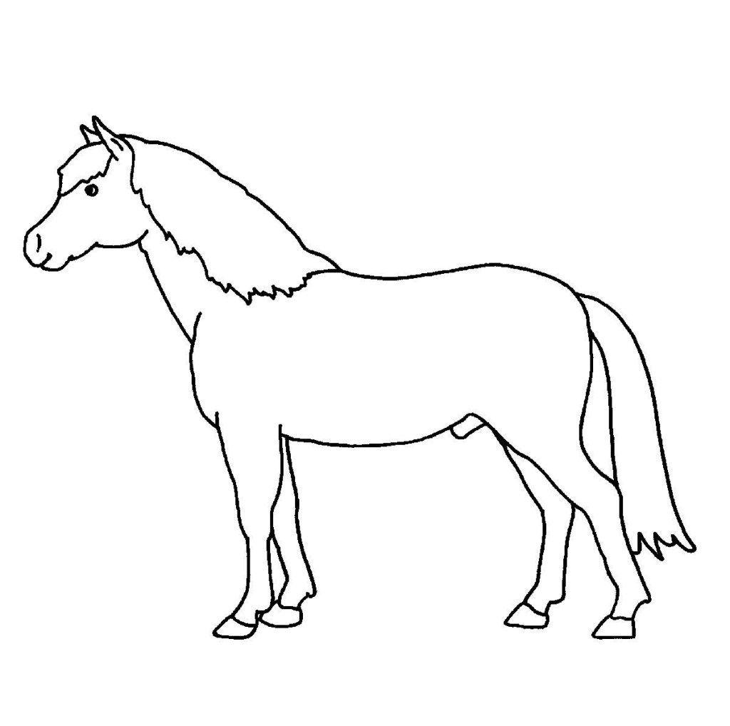 Malvorlagen Bauernhof Pferd