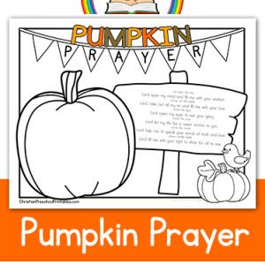 Thanksgiving Bible Printables Sunday School Pinterest Sunday - Pumpkin-prayer-coloring-page