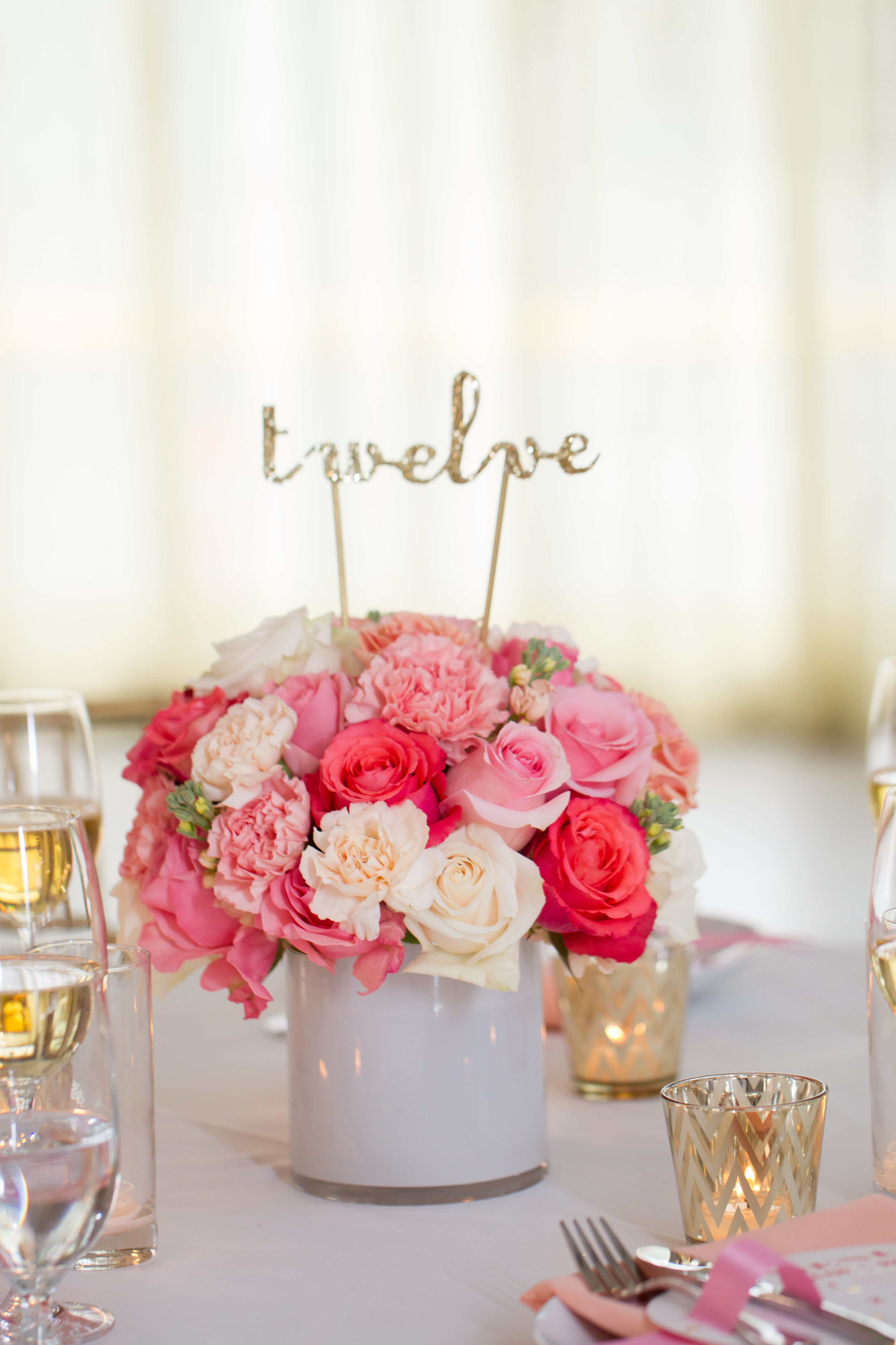 Party Pop Centerpiece From Bloominous Com Diy Flowers Made Easy Pink And Coral Flowers Cen Carnation Centerpieces Wedding Centerpieces Wedding Flowers