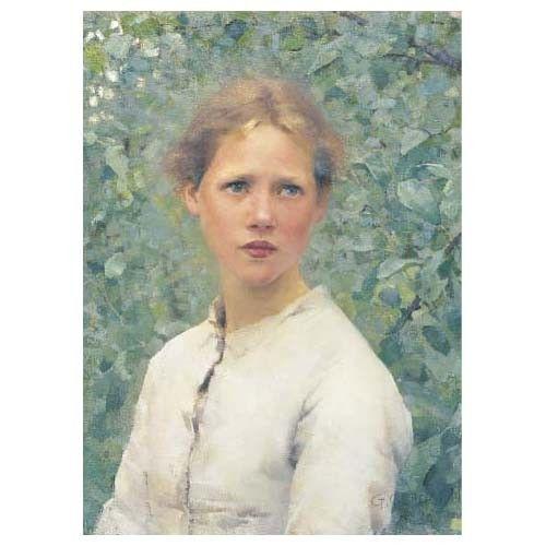 Sir George Clausen (1852-1944) , A Village Maiden | Christie's |Sir George Clausen Head Girls