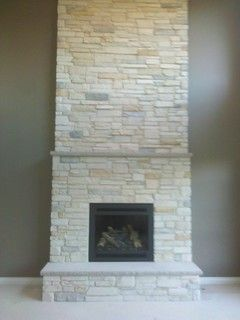 Boral Cultured Stone Country Ledgestone Living Room Detroit