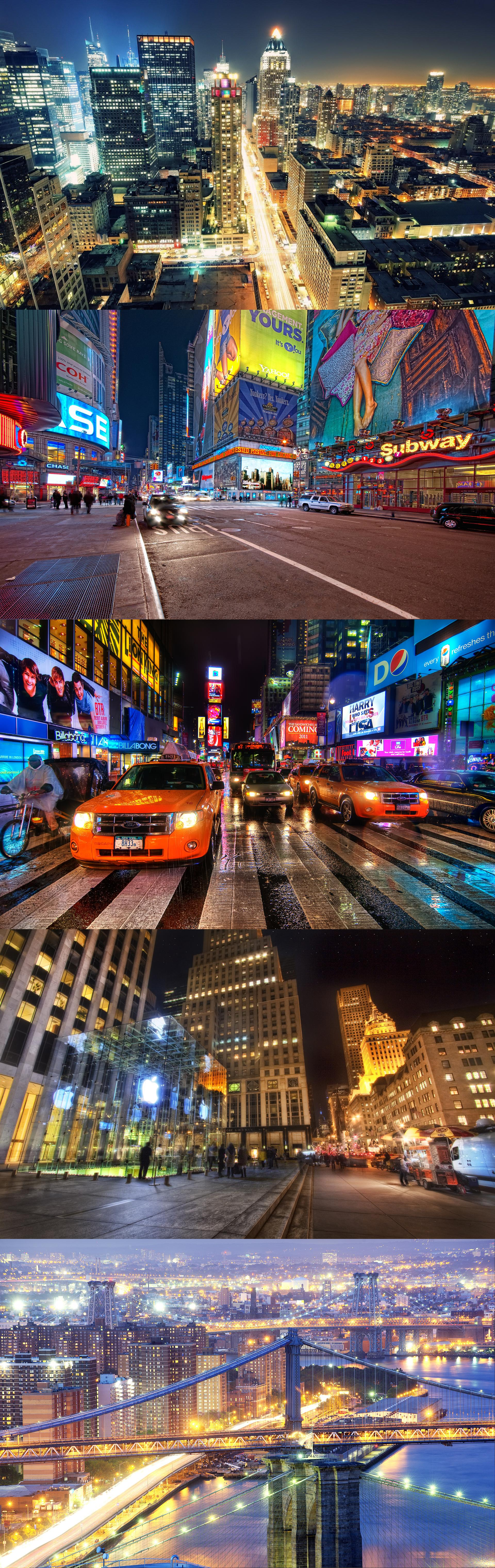 Times square, night, new york city, nyc, usa, 8th avenue ...