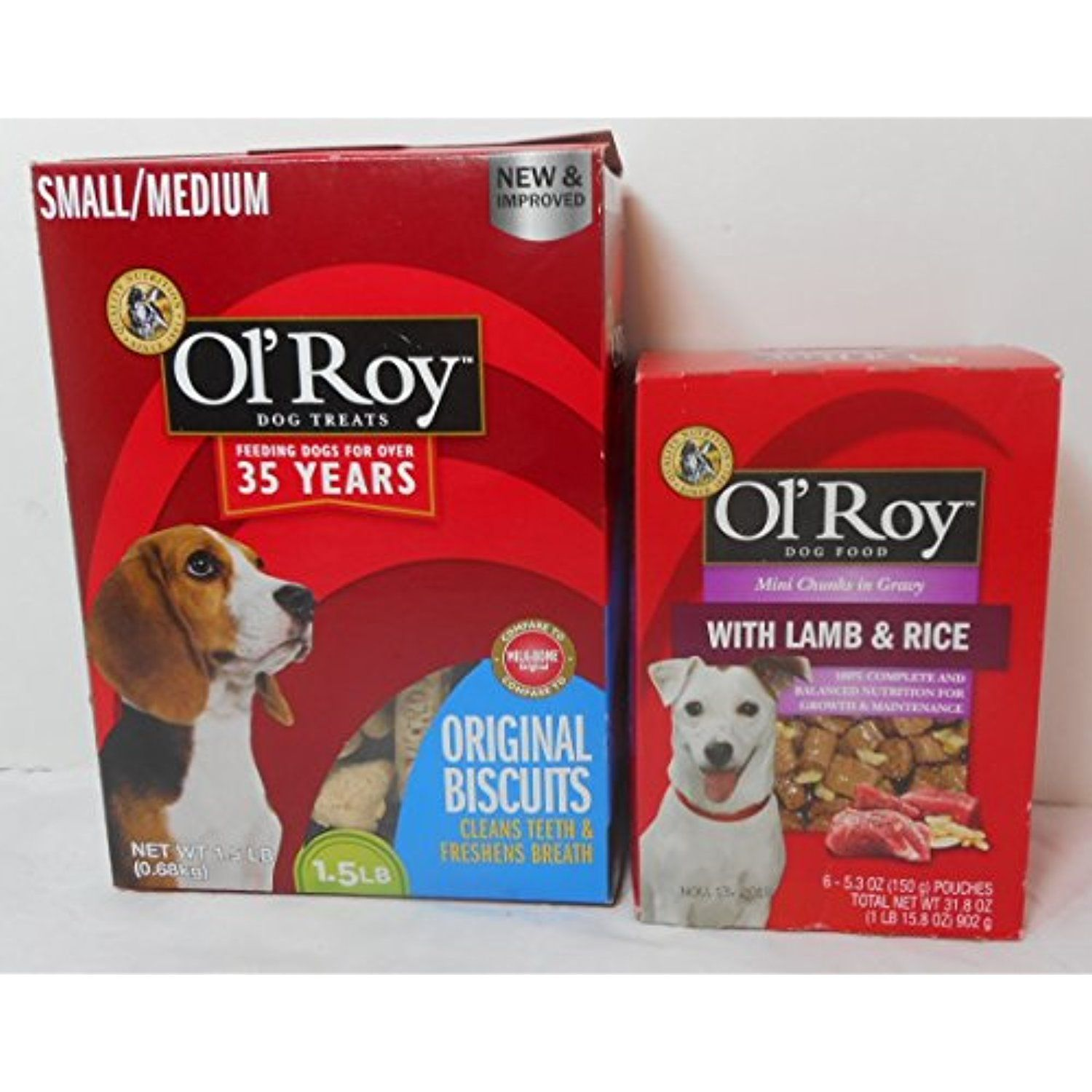 1 5 Lb Pkg Ol Roy Original Flavor Biscuits For Small Medium Dogs