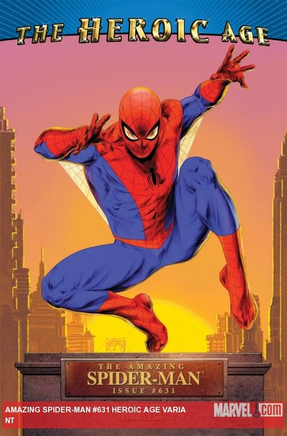 #Spiderman #Fan #Art. (Amazing Spider-Man (1999) #631 (HEROIC AGE VARIANT COVER) By: Doug Braithwaite. ÅWESOMENESS!!!™ ÅÅÅ+(WITH TEXT)