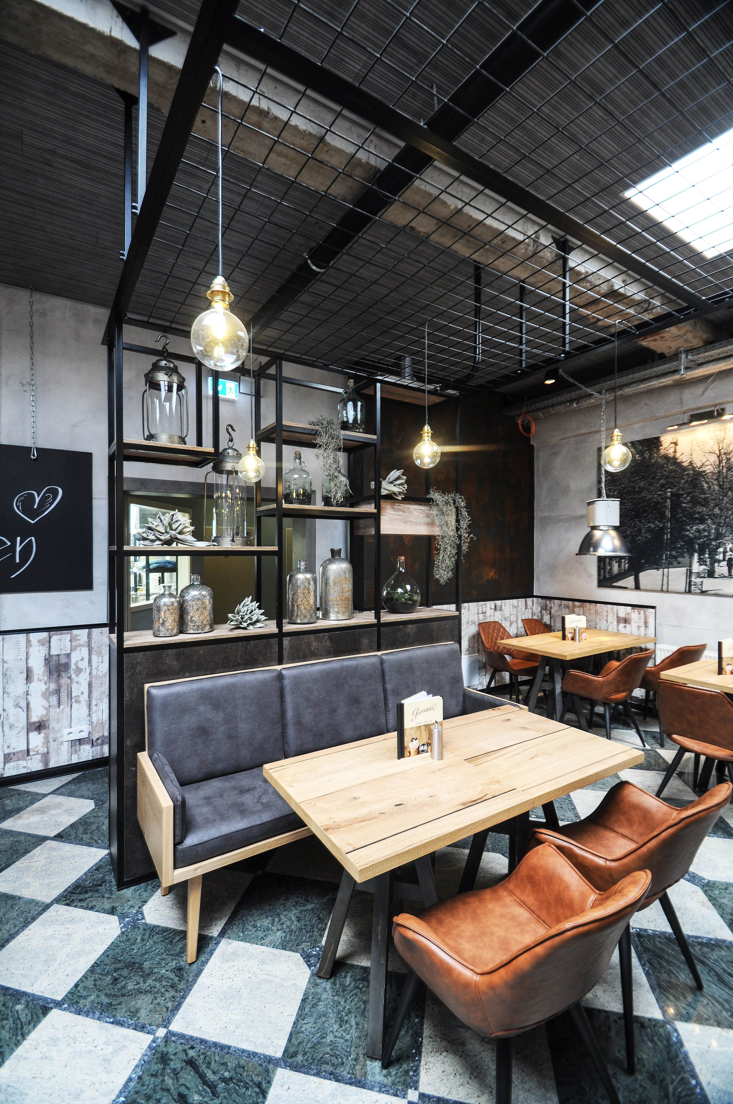 Eiscafe Cafe Bistro Industrial Industrie Style Giovanni S Rustic Rustikal Gummersbach Bistro Design Shop Innenarchitektur Restaurant Interieur
