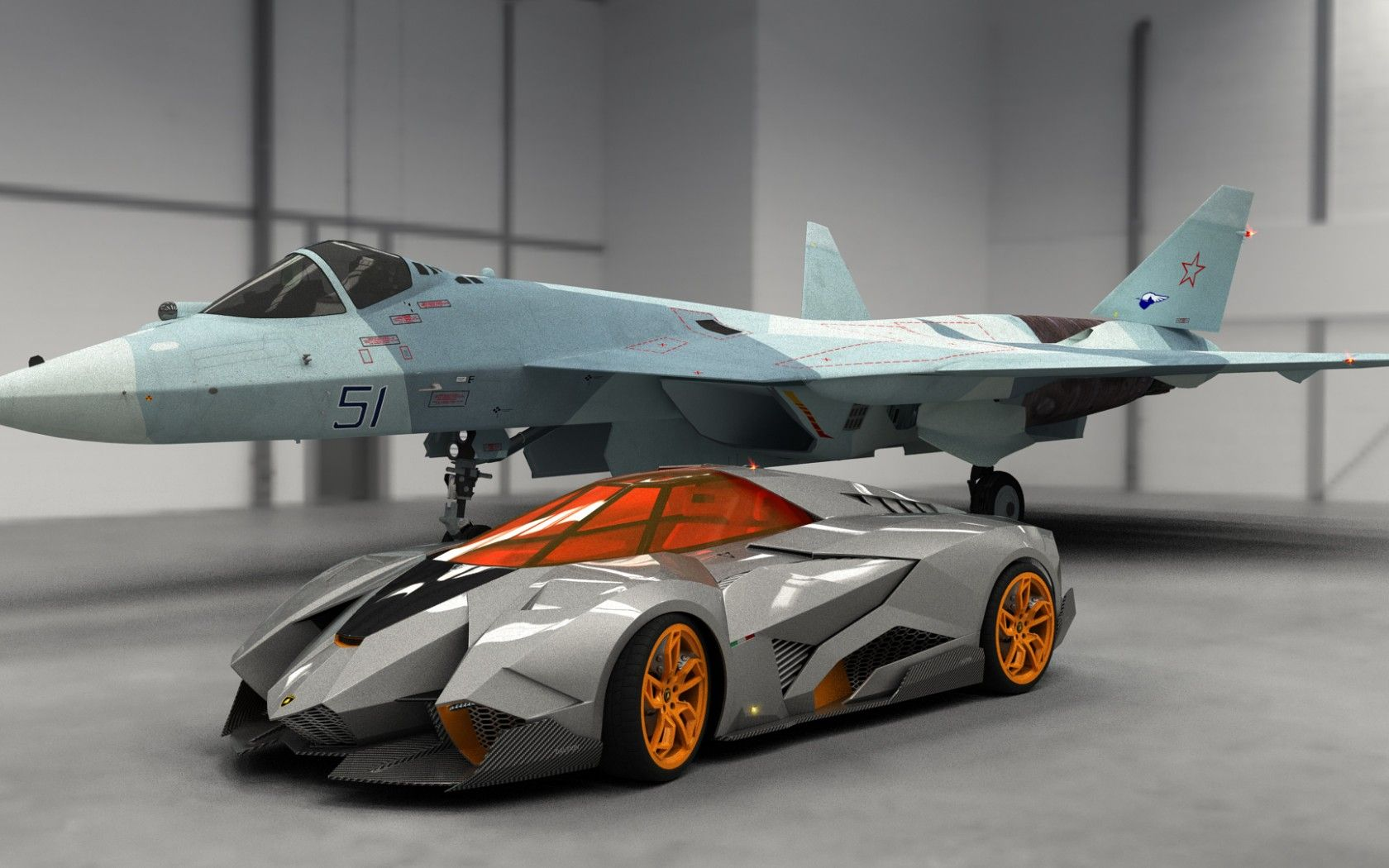 Скачать обои Lamborghini, Egoista, 2013, Concept, Car, авто, раздел  Lamborghini