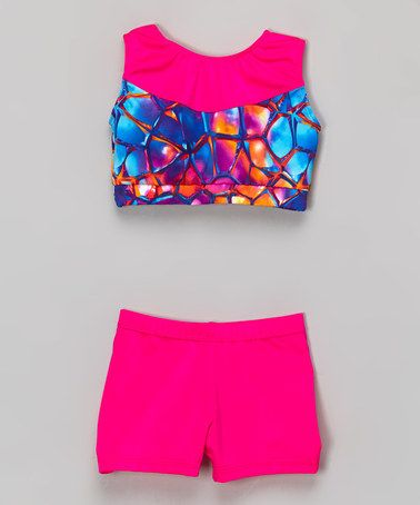 f2e1039ef5f Hot Pink Kaleidoscope Crop Tank   Shorts - Toddler   Girls by Niva-Miche  Clothes  zulilyfinds