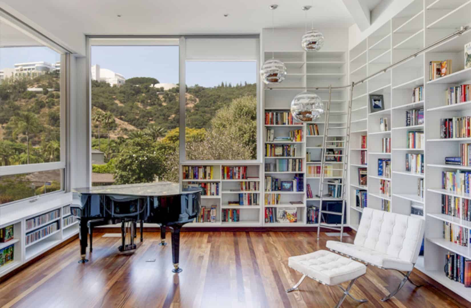 Folded View House A Distinct View Of A House With Desired Visual And Aural Privacy Home Library Rooms Home Library Design Bookshelf Design