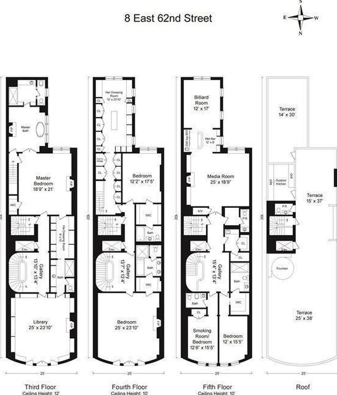 8 E 62nd St New York Ny 10065 Mls 20625th Zillow Floor Plans Zillow Luxury Homes