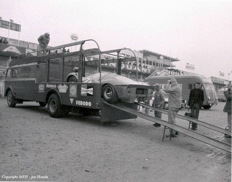 le mans 1967 fiat bartoletti ferrari transporter race. Black Bedroom Furniture Sets. Home Design Ideas