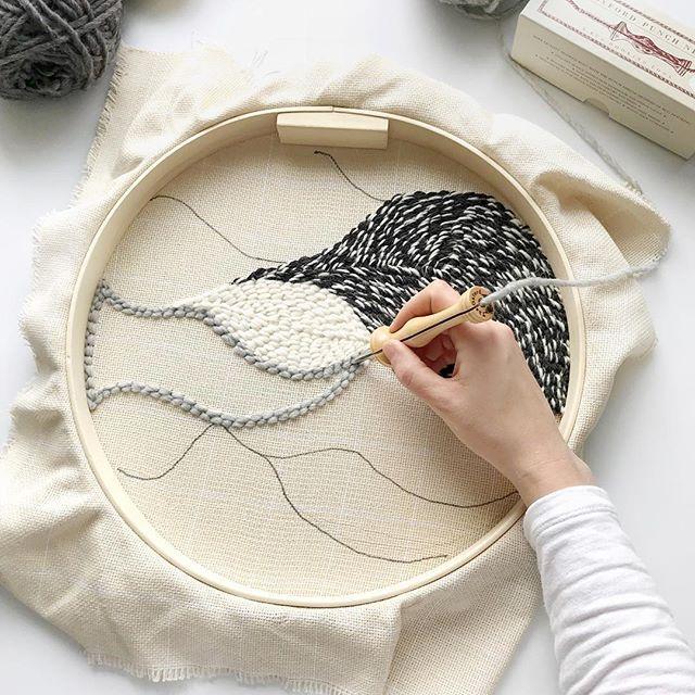 punch needle laine