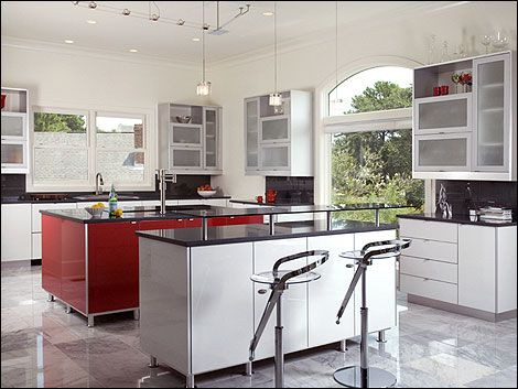 This modern kitchen was designed by Savannah Kitchen