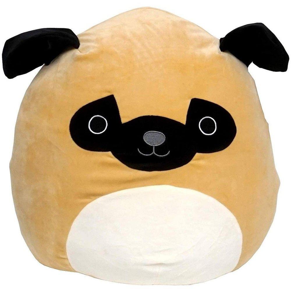 Kellytoy Squishmallow 16 Inch Plush Prince The Pug Animal Pillows Pet Toys Plush Toy