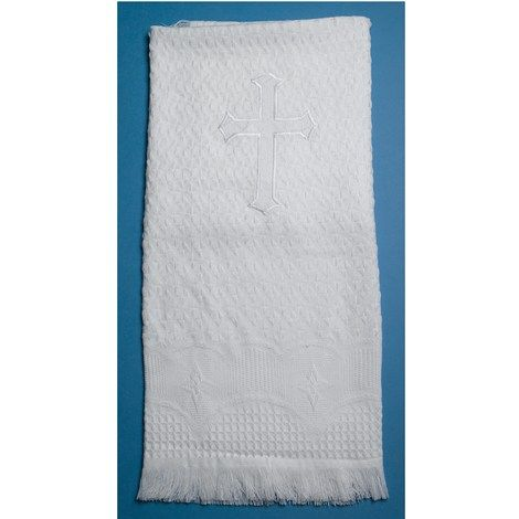 Infant Christening Blanket with Cross