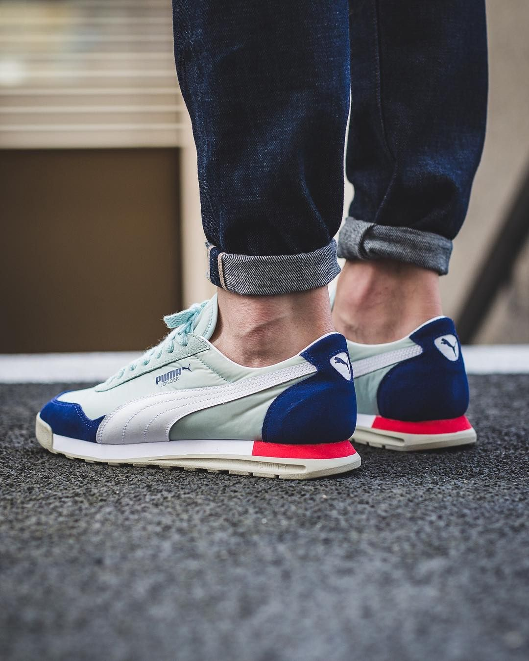 Puma Jogger OG Trainers (Blue/Mint/White) | SOLETOPIA in ...