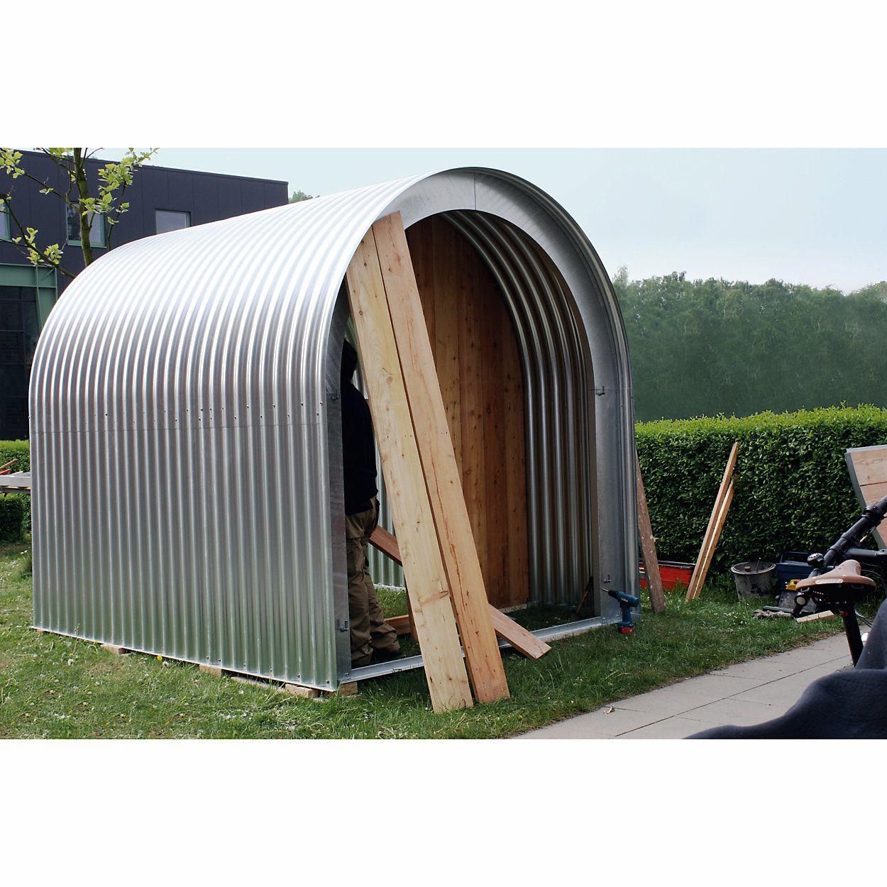 Gartenhaus Wellblech mit Holzfront in 2020 Wellblech