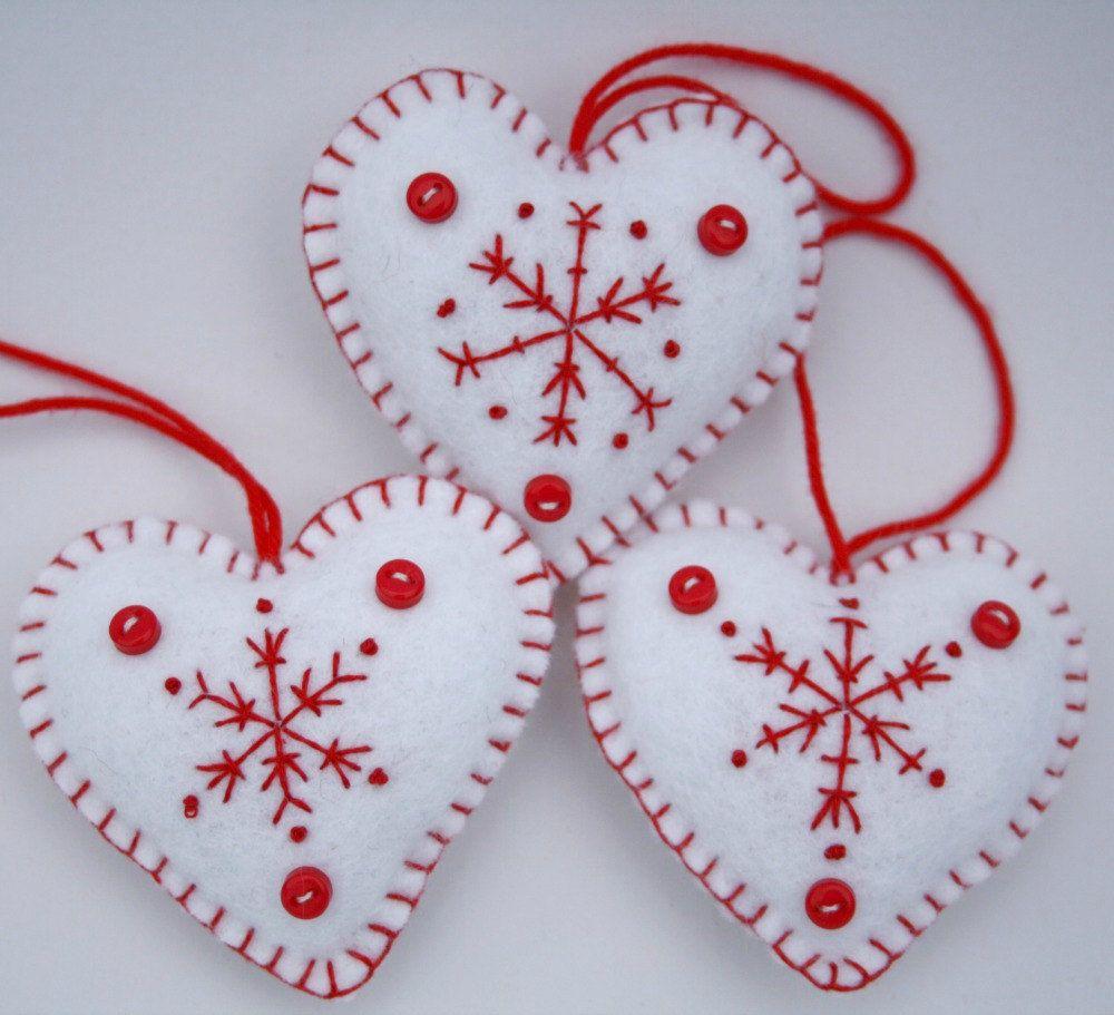 42++ Felt heart christmas ornaments trends