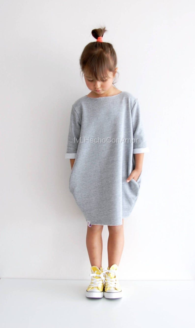Photo of Girls sweatshirt dress pattern pdf, oversized sweater sewing pattern, girls dress pattern, girls dress sewing pattern pdf, instant download