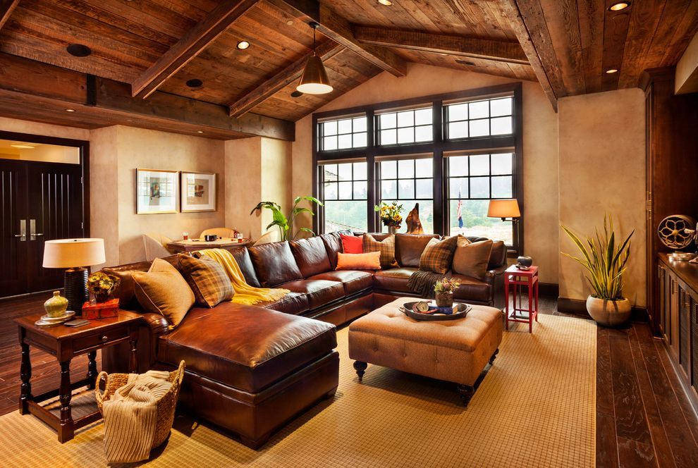 Stickley Furniture Prices With Rustic Family Room And Brown