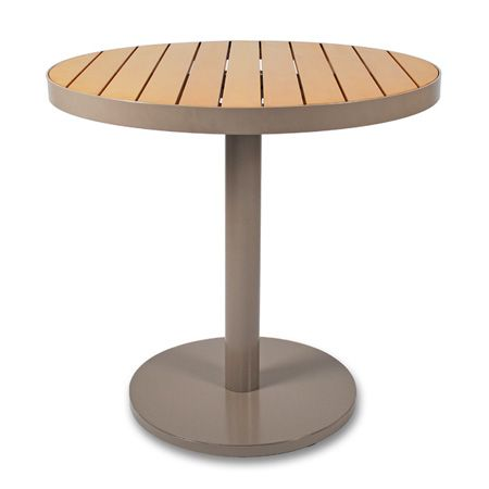 cafe 30-inch round pedestal table | thos. baker premium outdoor living