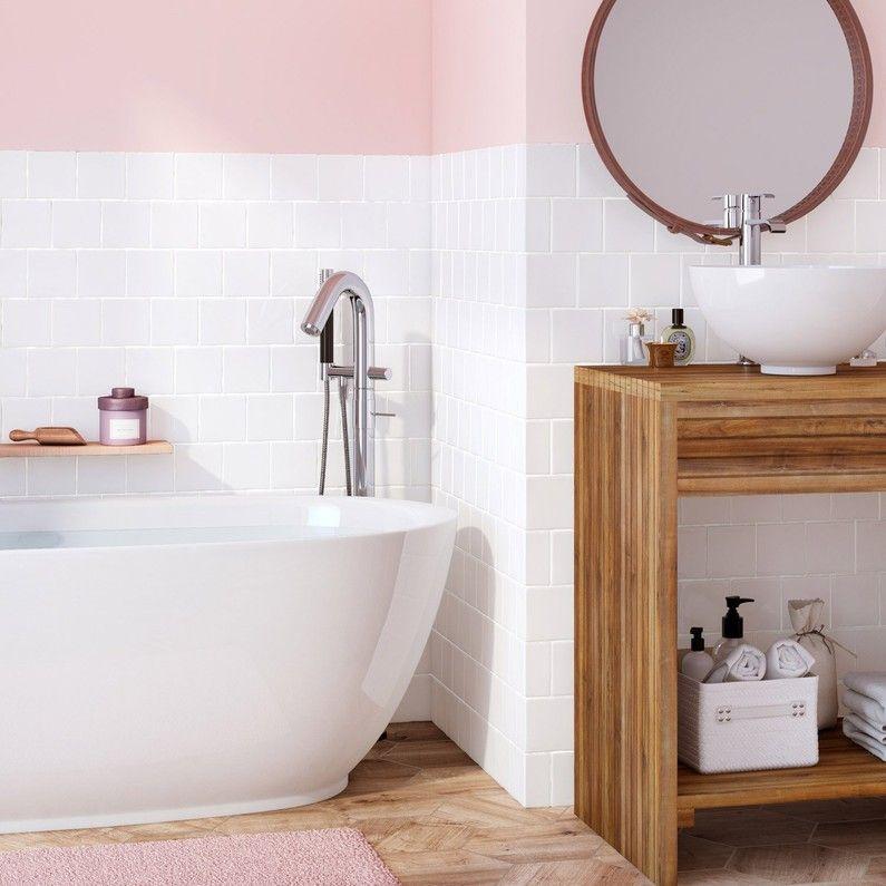 Faience Mur Blanc Brillant L 10 X L 10 Cm Bakerstreet Leroy Merlin Clawfoot Bathtub Bathroom Home Decor