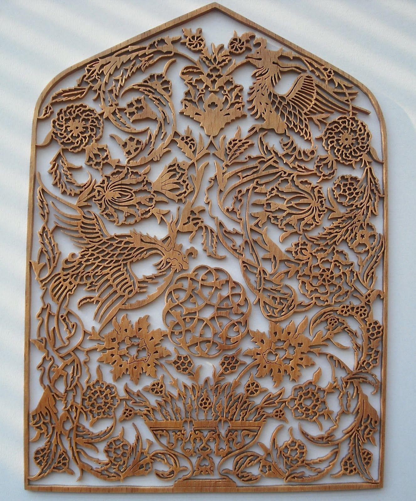 Naht sanatı osmanlı Çeşme alınlığı gürgen ağacı