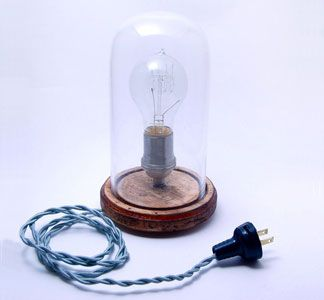 bell jar lamp, from southern lights