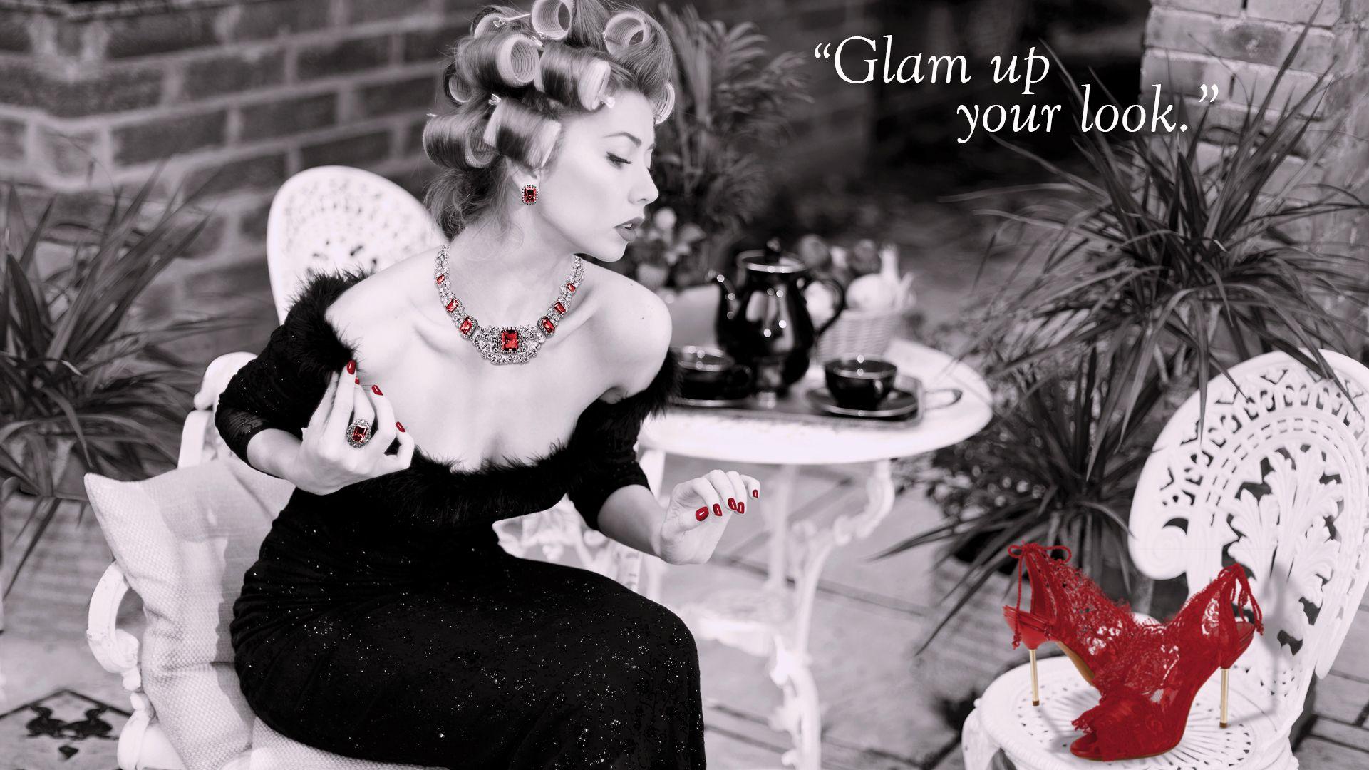 Glam up your look Diseño: Rebeca Vicente Zapatos: Vicente Rey