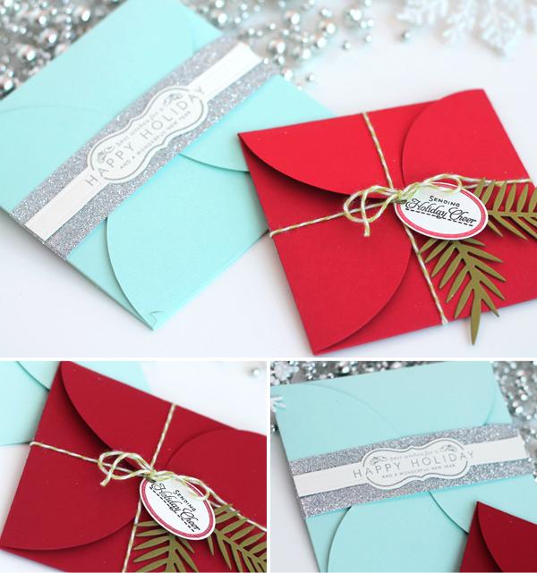 HowTo Holiday DIY Petal Envelopes Christmas envelopes